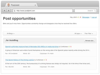 PostJoint Blogger Opps