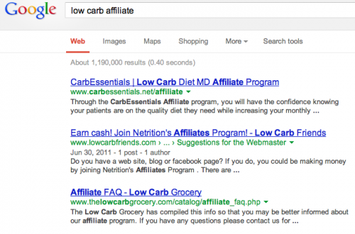 find affiliate programs at google