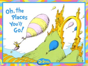Dr Seuss Book Oh The Places You'll Go