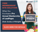 Wishlist Member + LeadPages = Easy Money