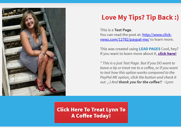 Using LeadPages for a Tip Jar