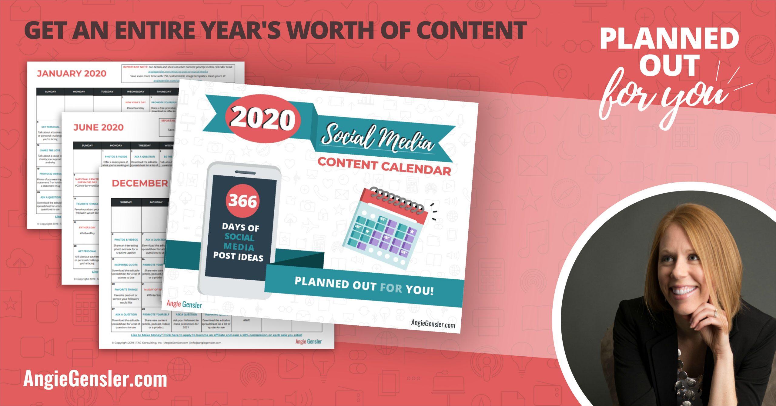 2020 Social Media Planner